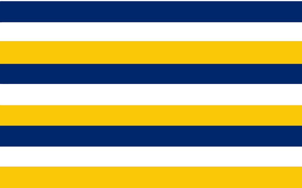 Sveriges flagga är blåvitgul randig enligt Rudolf van Devetner 1585