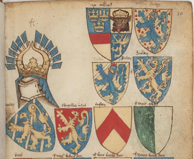 Ur Bellenville-vapenboken: De svenska kungliga vapensköldarna