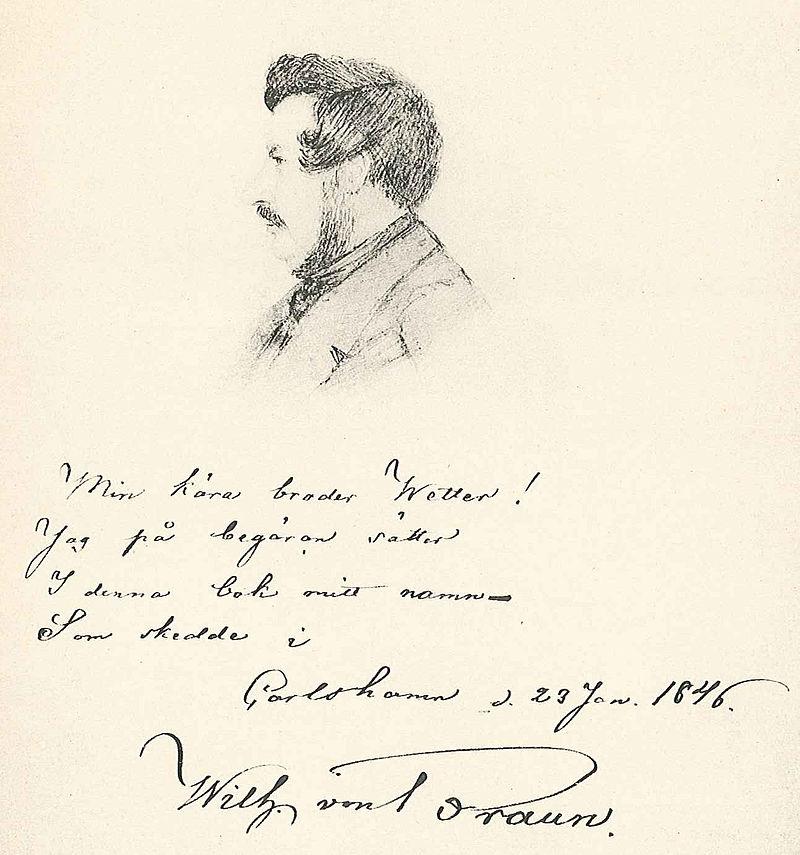 Wilhelm von Braun. teckning: Carl Wetter