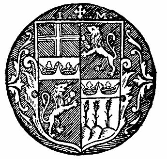 Johannes Magnus sigill med Uppsala stifts vapen i fält 1.