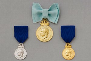 Konungens medalj. Foto: Kungahuset.se