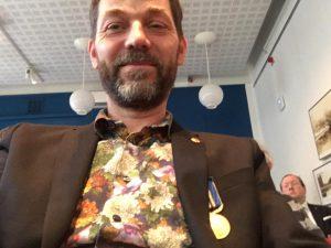 Jesper Wasling with medal