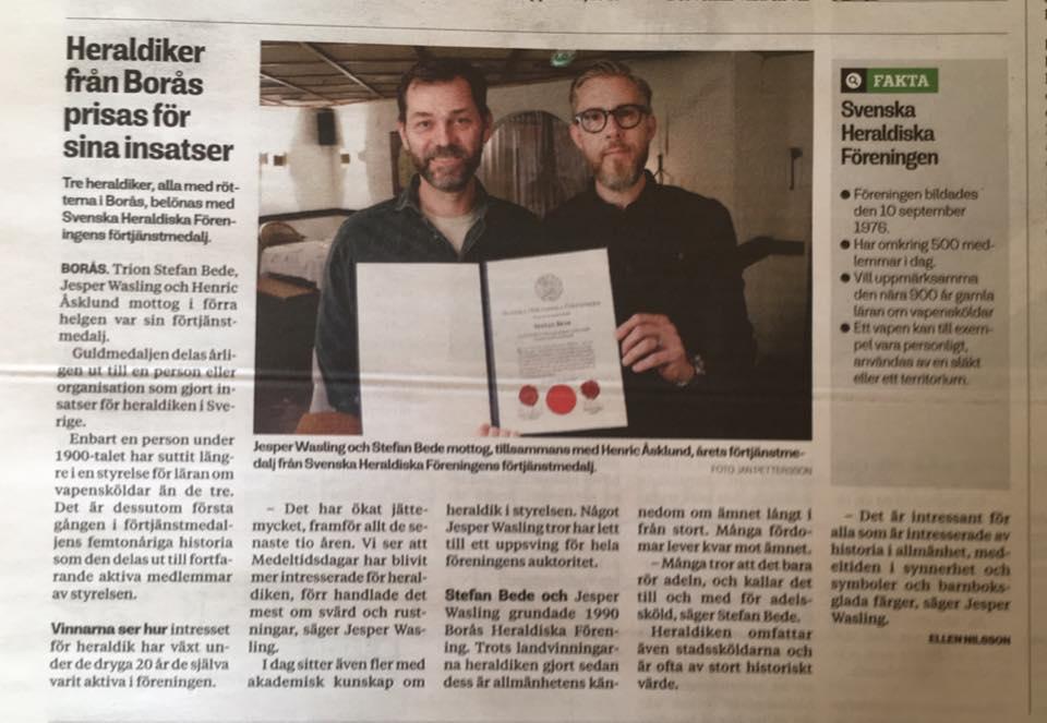 Jesper Wasling och Stefan Bede i Borås Tidning 11 mars 2017