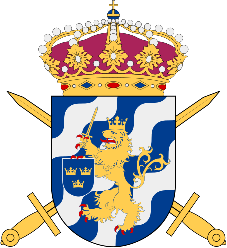 Älvsborgs regementes vapensköld med ett lejon