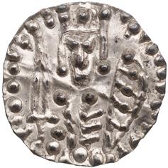 Mynt med sköld från präglat av kung Knut Eriksson