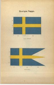 Sveriges flagga enligt flagglagen från 1906