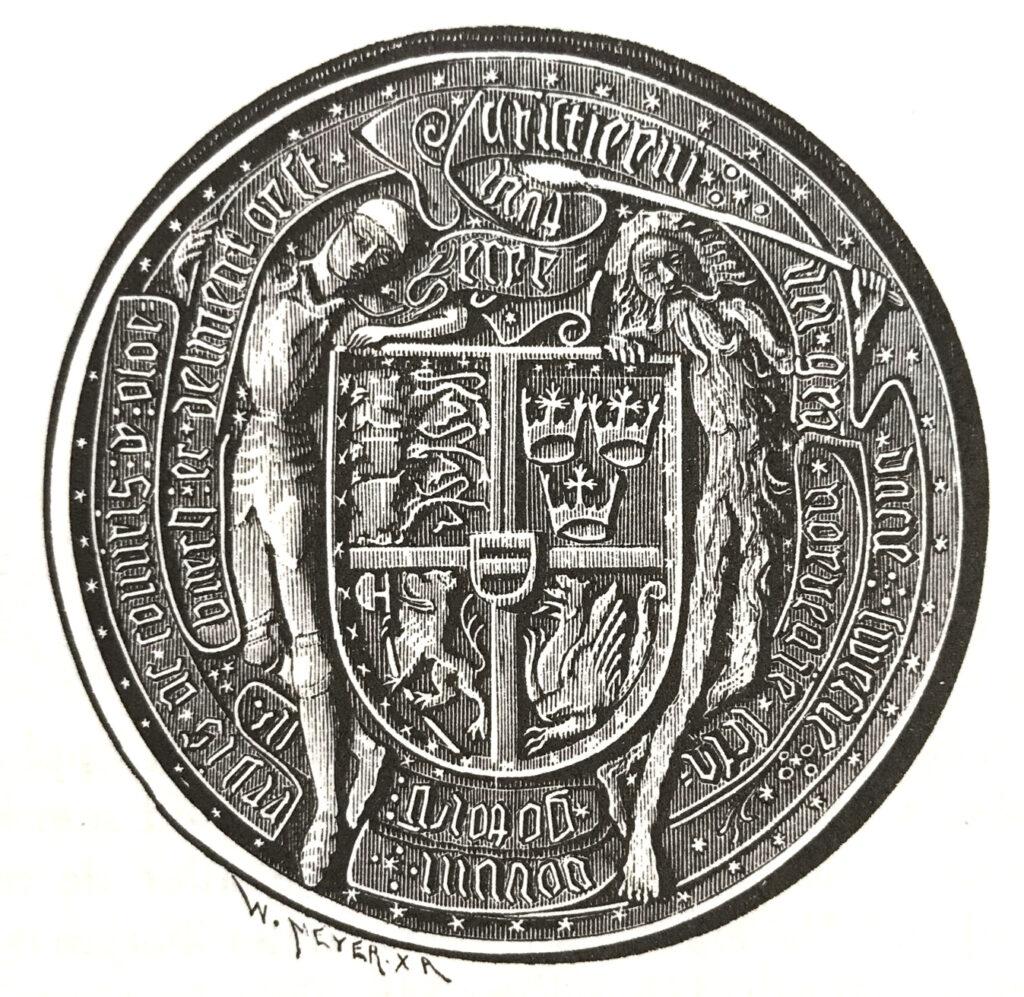 Kung Kristian I:s unionssigill.